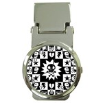 Gothic Punk Skull Money Clip Watch
