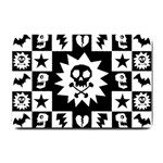 Gothic Punk Skull Small Doormat