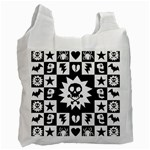 Gothic Punk Skull Recycle Bag (One Side)