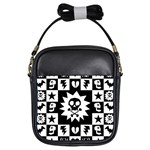 Gothic Punk Skull Girls Sling Bag