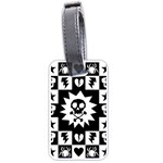Gothic Punk Skull Luggage Tag (two sides)