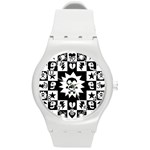 Gothic Punk Skull Round Plastic Sport Watch Medium