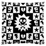 Gothic Punk Skull Large Cushion Case (Two Sides)