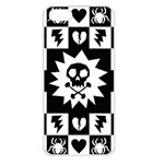 Gothic Punk Skull Apple iPhone 5 Seamless Case (White)