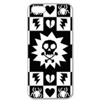 Gothic Punk Skull Apple Seamless iPhone 5 Case (Clear)