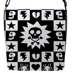 Gothic Punk Skull Flap closure messenger bag (Small)