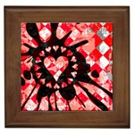 Love Heart Splatter Framed Tile