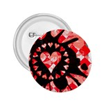 Love Heart Splatter 2.25  Button
