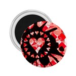 Love Heart Splatter 2.25  Magnet