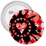 Love Heart Splatter 3  Button