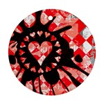 Love Heart Splatter Ornament (Round)