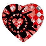 Love Heart Splatter Ornament (Heart)