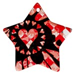 Love Heart Splatter Ornament (Star)