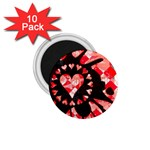 Love Heart Splatter 1.75  Magnet (10 pack)
