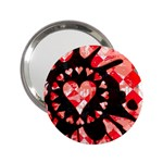 Love Heart Splatter 2.25  Handbag Mirror