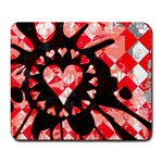 Love Heart Splatter Large Mousepad