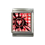 Love Heart Splatter Italian Charm (13mm)