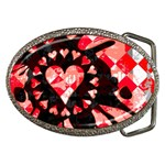 Love Heart Splatter Belt Buckle