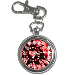 Love Heart Splatter Key Chain Watch