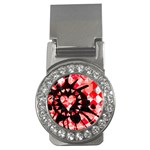 Love Heart Splatter Money Clip (CZ)