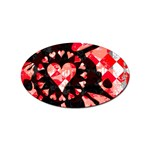 Love Heart Splatter Sticker (Oval)