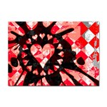 Love Heart Splatter Sticker (A4)
