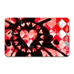 Love Heart Splatter Magnet (Rectangular)