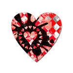 Love Heart Splatter Magnet (Heart)