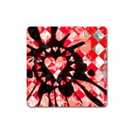 Love Heart Splatter Magnet (Square)