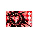 Love Heart Splatter Magnet (Name Card)