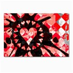 Love Heart Splatter Postcard 4 x 6  (Pkg of 10)