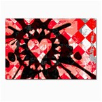 Love Heart Splatter Postcard 5  x 7