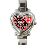 Love Heart Splatter Heart Italian Charm Watch