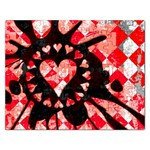 Love Heart Splatter Jigsaw Puzzle (Rectangular)