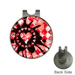 Love Heart Splatter Golf Ball Marker Hat Clip