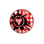 Love Heart Splatter Hat Clip Ball Marker (4 pack)