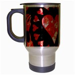 Love Heart Splatter Travel Mug (Silver Gray)