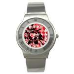 Love Heart Splatter Stainless Steel Watch