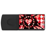 Love Heart Splatter USB Flash Drive Rectangular (4 GB)