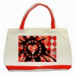 Love Heart Splatter Classic Tote Bag (Red)