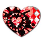 Love Heart Splatter Mousepad (Heart)