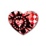Love Heart Splatter Heart Coaster (4 pack)