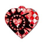 Love Heart Splatter Dog Tag Heart (Two Sides)