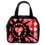 Love Heart Splatter Classic Handbag (One Side)