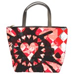Love Heart Splatter Bucket Bag