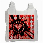 Love Heart Splatter Recycle Bag (One Side)