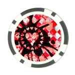 Love Heart Splatter Poker Chip Card Guard (10 pack)