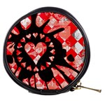 Love Heart Splatter Mini Makeup Bag