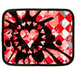 Love Heart Splatter Netbook Case (XL)