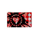 Love Heart Splatter Cosmetic Bag (Small)